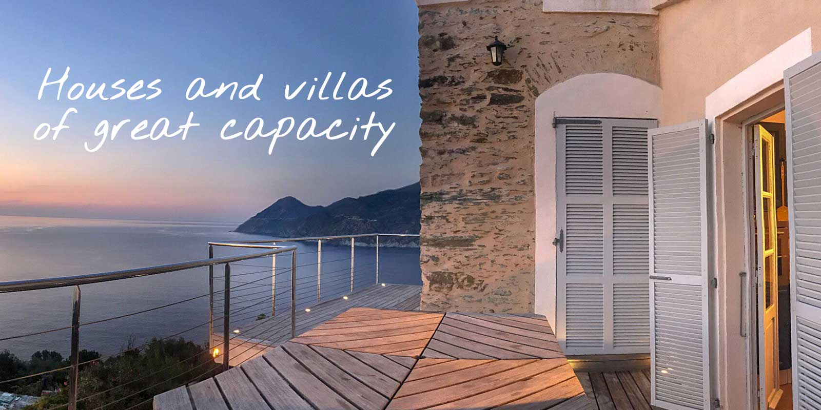 Holiday rental in Cap Corse that can accommodate more than 8 travelers