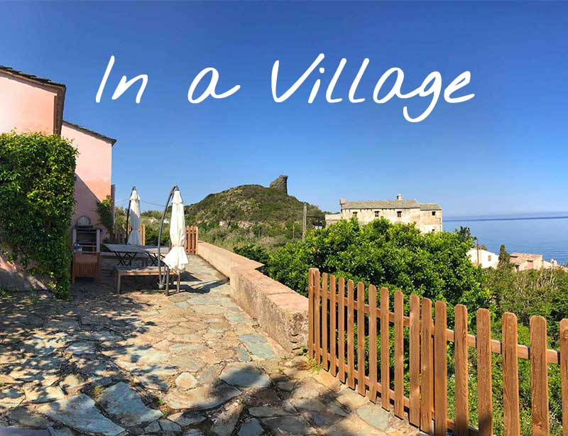 Vacation rentals in the heart of a village in Cap Corse (northern Corsica)