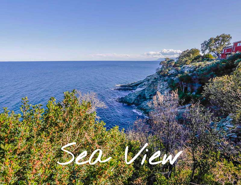 Vacation rentals with an unobstructed view of the sea in Cap Corse (Northern Corsica)