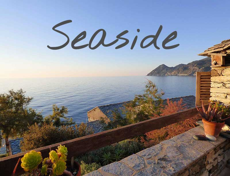 Vacation rentals close to the sea and a beach in Cap Corse (northern Corsica)