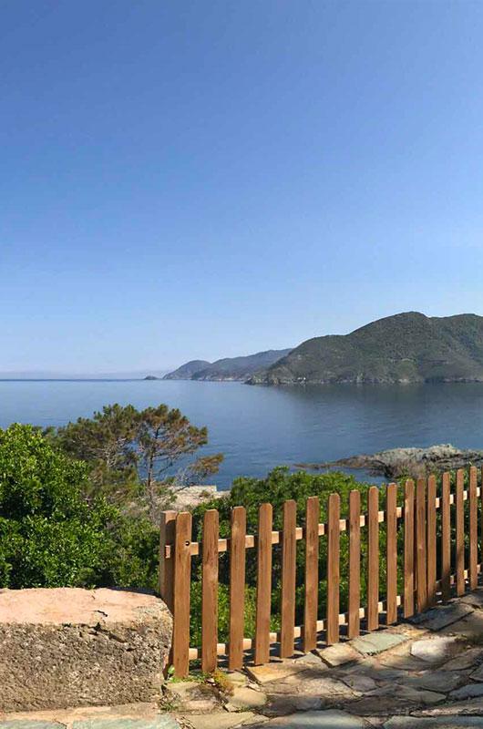A la marine de Pino, charmante maison avec vue époustouflante sur la mer