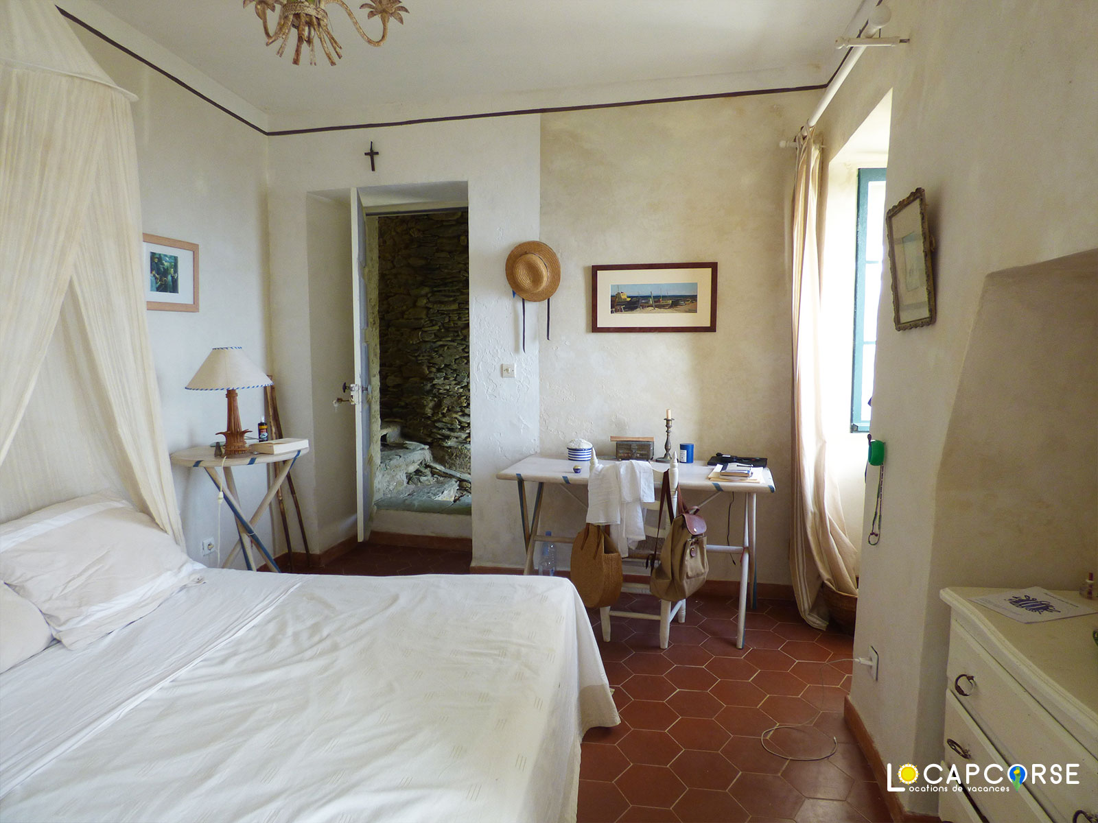 Locations Cap Corse - The bedroom of the little house