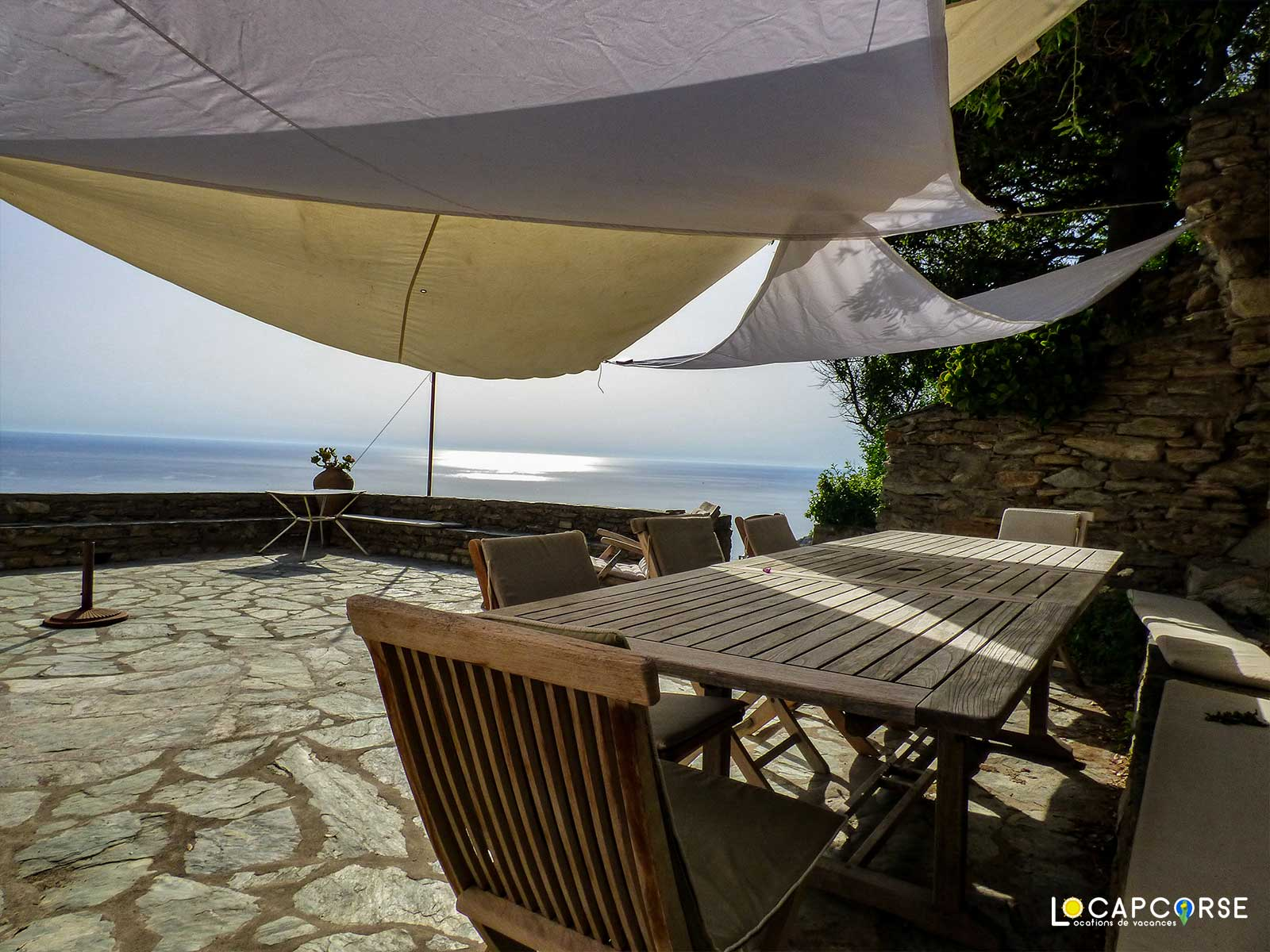 Locations Cap Corse - Holiday rental in Cannelle (Centuri), villa overlooking the sea and the bay of Centuri in Cap Corse.