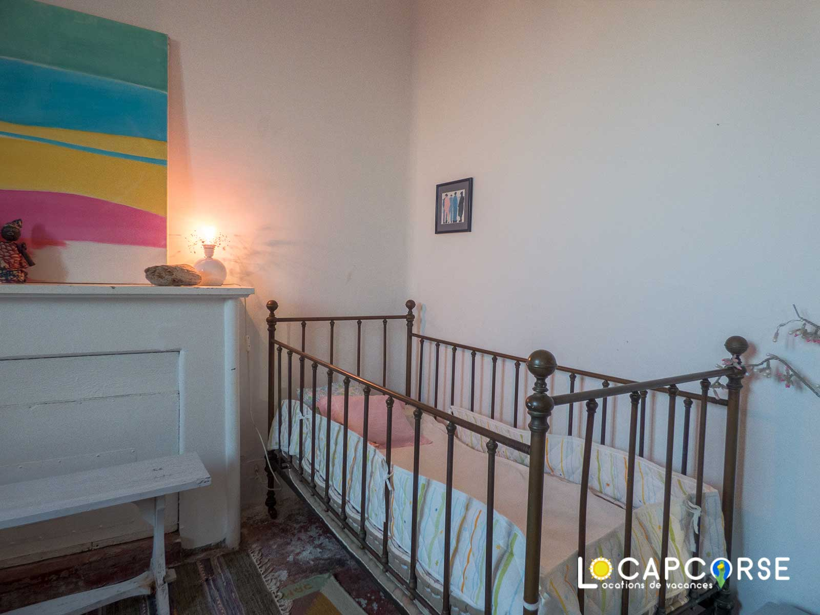Locations Cap Corse - Another view of bedroom 4 in the older style - baby bed at your disposal