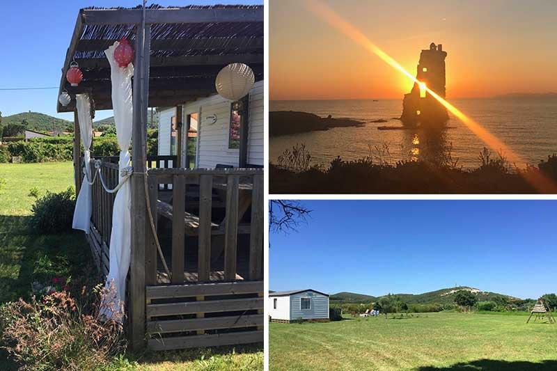 Mobilheim für 4 Personen mit großem Garten, 170 Meter vom Strand von Macinaggio entfernt