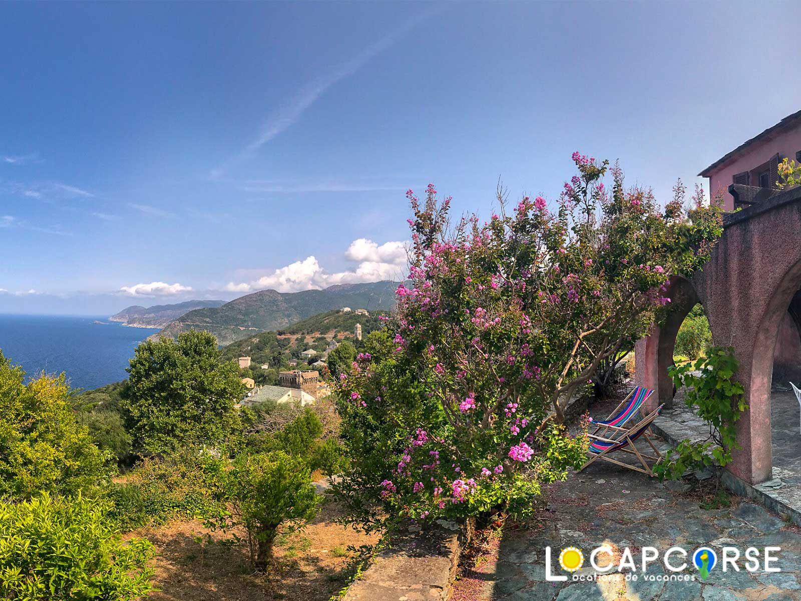 Locations Cap Corse - Holiday house in Pino with large terrace and panoramic sea view for 9 people (Holiday rental in North Corsica)