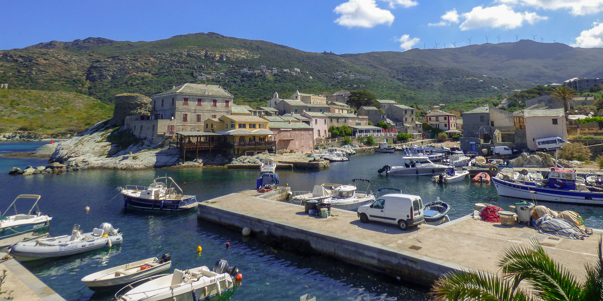 Centuri, village of Cap Corse with its small fishing port famous for lobster fishing.